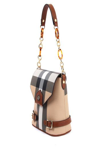 Silver Polo Messenger / Askılı Çanta Bej